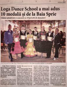 Loga Dance School a mai adus 10 medalii si de la Baia Sprie (Informatia Zilei)