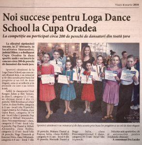 Noi succese pentru Loga Dance School la Cupa Oradea (Informatia Zilei)