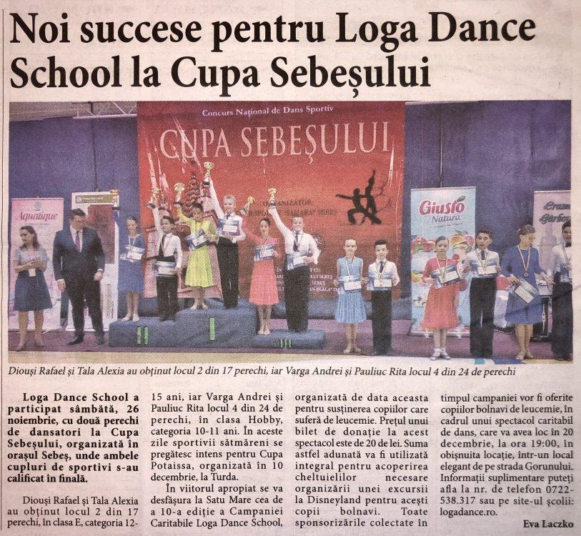 Noi succese pentru Loga Dance School la Cupa Sebesului (Informatia Zilei)