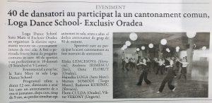 40 de dansatori au participat la un cantonament comun, Loga Dance School - Exclusiv Oradea (Gazeta De Nord Vest)