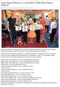 """Loga Dance School, cu 11 perechi la """"Baia Mare Dance Festival"""" (gazetanord-vest.ro)"""