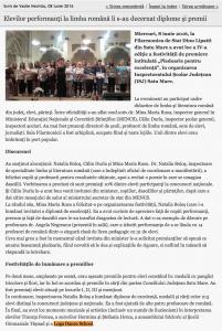 Elevilor performanti la limba romana li s-au decernat diplome si premii (informatia-zilei.ro)