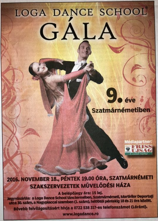 Loga Dance School Gala - 9 eve Szatmarnemetiben (Friss Ujsag)