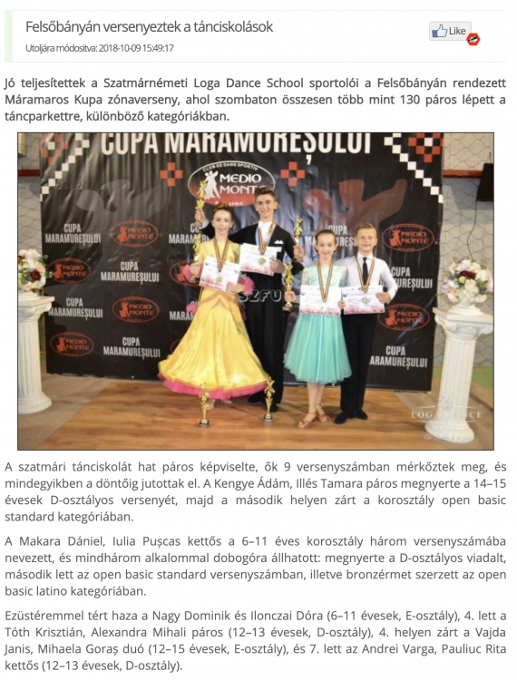 Felsobanyan versenyeztek a tanciskolasok (frissujsag.ro)