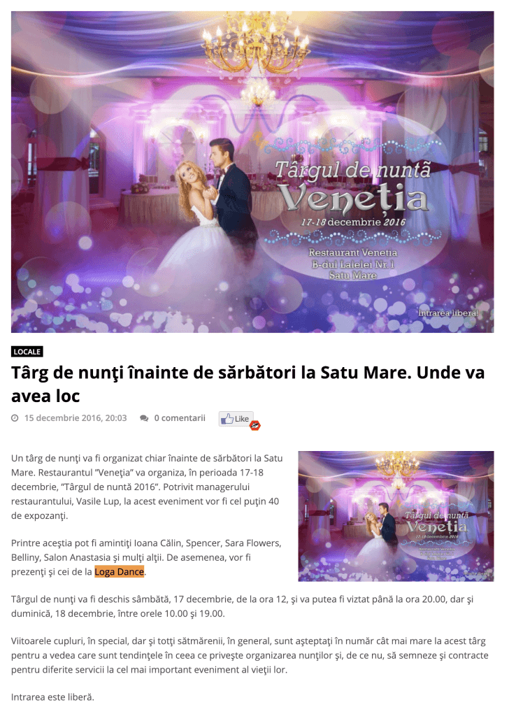 Targ de nunti inainte de sarbatori la Satu Mare. Unde va avea loc (portalsm.ro)