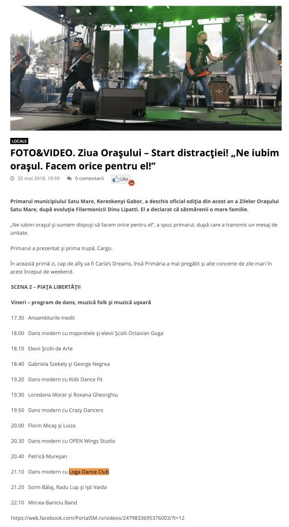 """FOTO&VIDEO. Ziua Orasului – Start distractiei! """"Ne iubim orasul. Facem orice pentru el!"""" (portalsm.ro)"""