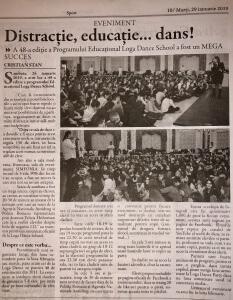 Distractie, educatie… dans! (Gazeta De Nord Vest)