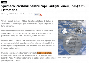 Spectacol caritabil pentru copiii autisti, vineri, in P-ta 25 Octombrie (portalsm.ro)