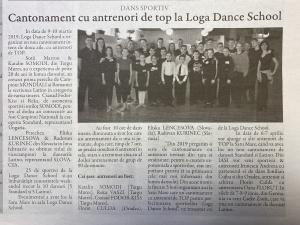Cantonament cu antrenori de top la Loga Dance School! (Gazeta De Nord Vest)