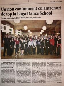 Un nou cantonament cu sntrenori de top la Loga Dance School (Informatia Zilei)