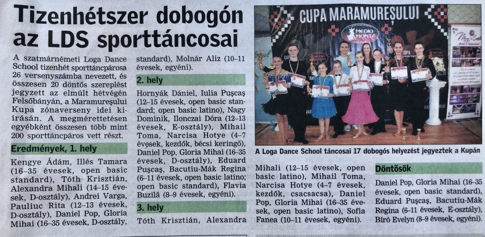 Ket nap intenziv edzes a Loga Dance School tanciskolanal. (Friss Ujsag)