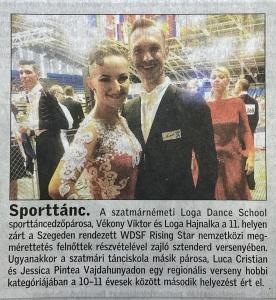 A Loga Dance School edzoi Szegeden. (Friss Ujsag)