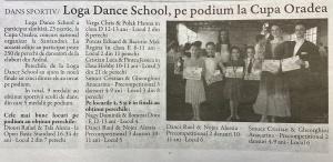Loga Dance School pe podium la Cupa Oradea! (Gazeta De Nord Vest)