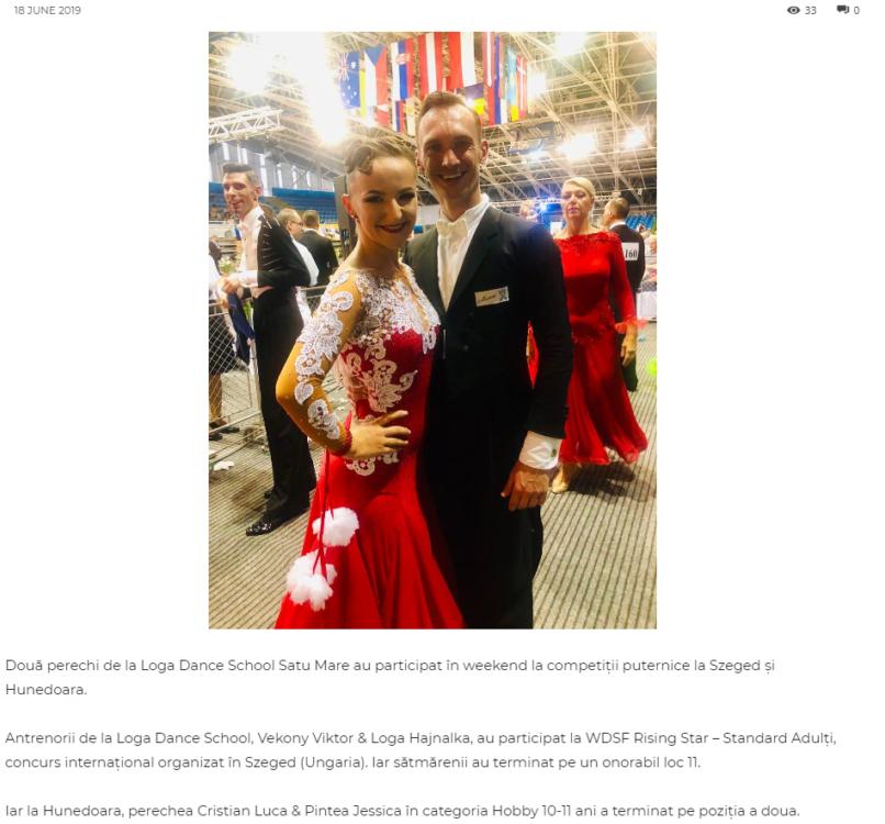 Loga Dance School la competitiile din Szeged si Hunedoara! (gazetanord-vest.ro)