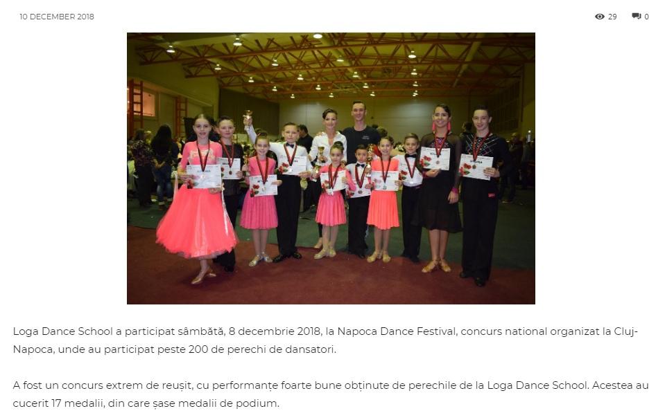 Loga Dance School la Napoca Dance Festival (gazetanord-vest.ro)