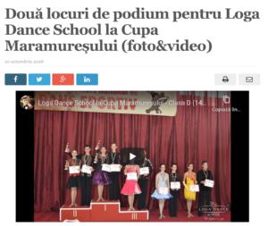 Doua locuri de podium pentru Loga Dance School la Cupa Maramuresului. (satmareanul.net)