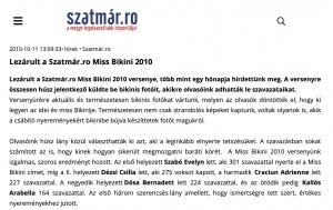 Lezarult a Szatmar.ro Miss Bikini 2010 (szatmar.ro)