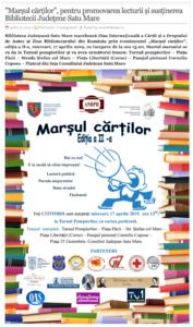 """""""Marsul cartilor"""", pentru promovarea lecturii si sustinerea Bibliotecii Judetene Satu Mare. (actualitateasm.ro)"""