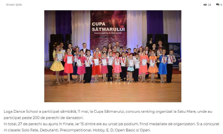 Loga Dance School a participat sambata la Cupa Satmarului! (gazetanord-vest.ro)