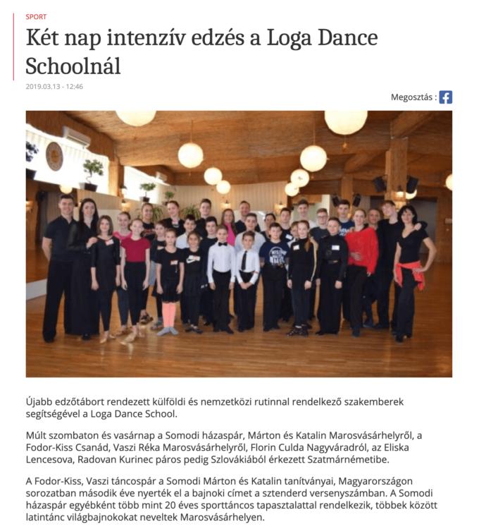 Ket nap intenziv edzes a Loga Dance Schoolnal (frissujsag.ro)