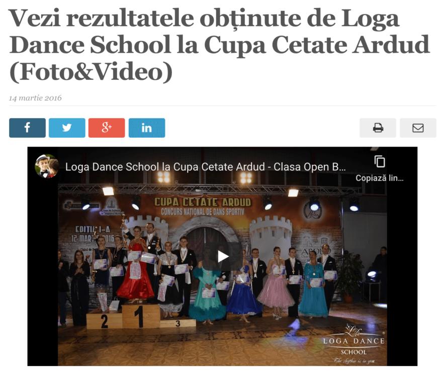 Vezi rezultatele obtinute de Loga Dance School la Cupa Cetate Ardud. (satmareanul.net)