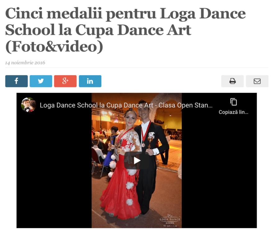 Cinci medalii pentru Loga Dance School la Cupa Dance Art. (satmareanul.net)
