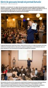 Elevii de gimnaziu invata sa previna furturile (satumareonline.ro)