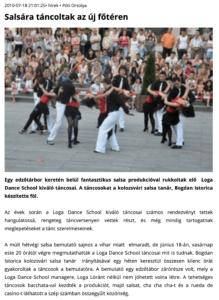 Salsara tancoltak az uj foteren (szatmar.ro)