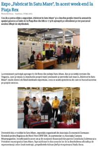 "Expo ""Fabricat in Satu Mare"", in acest week-end la Piata Rex (satumareonline.ro)"