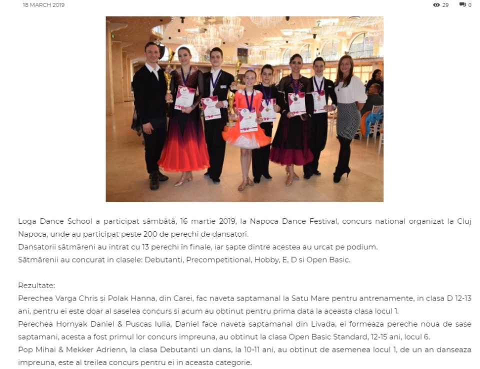 Loga Dance School la Napoca Dance Festival. (gazetanord-vest.ro)