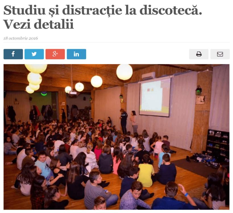 Studiu si distractie la discoteca. (satmareanul.net)