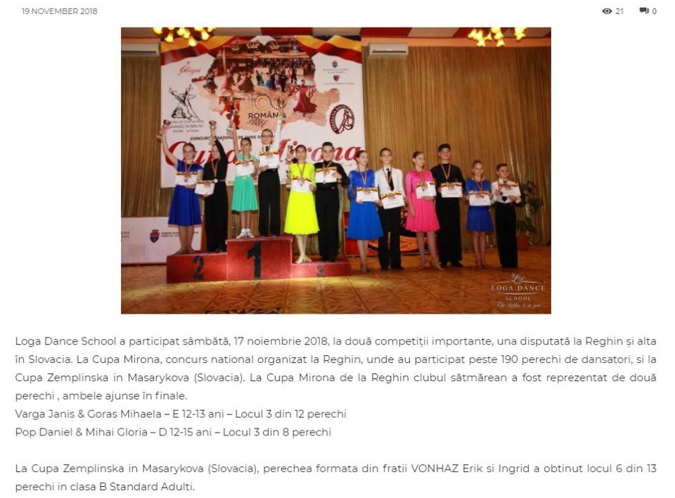 Loga Dance School la Cupa Mirona. (gazetanord-vest.ro)