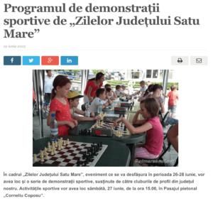 """Programul de demonstratii sportive de """"Zilelor Judetului Satu Mare"""". (satmareanul.net)"""