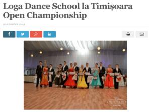 Loga Dance School la Timisoara Open Championship. (satmareanul.net)