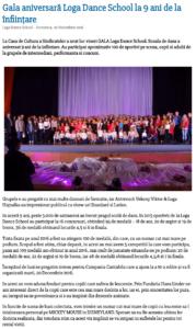 Gala aniversara Loga Dance School la 9 ani de la infiintare (satumareonline.ro)