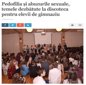 Pedofilia si abuzurile sexuale, temele dezbatute la discoteca pentru elevii de gimnaziu (satmareanul.net)