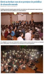 Elevii au invatat cum sa se protejeze de pedofili si de abuzurile sexuale (satumareonline.ro)