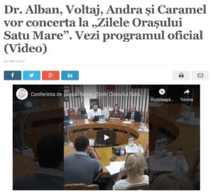 """Dr. Alban, Voltaj, Andra si Caramel vor concerta la """"Zilele Orasului Satu Mare"""". Vezi programul oficial. (satmareanul.net)"""