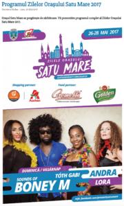Programul Zilelor Orasului Satu Mare 2017 (satumareonline.ro)