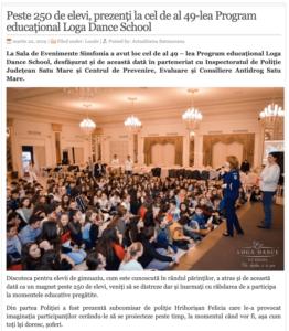 Peste 250 de elevi, prezenti la cel de al 49-lea Program educational Loga Dance School. (actualitateasm.ro)