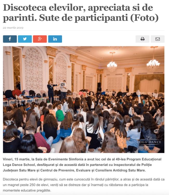Discoteca elevilor, apreciata si de parinti. Sute de participanti. (satmareanul.net)