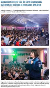 Eveniment record: 500 de elevi de gimnaziu informati de politisti si specialisti antidrog (satumareonline.ro)