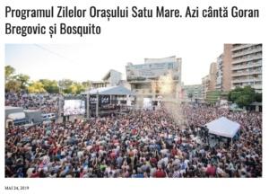 Programul Zilelor Orasului Satu Mare. Azi canta Goran Bregovic si Bosquito! (presasm.ro)
