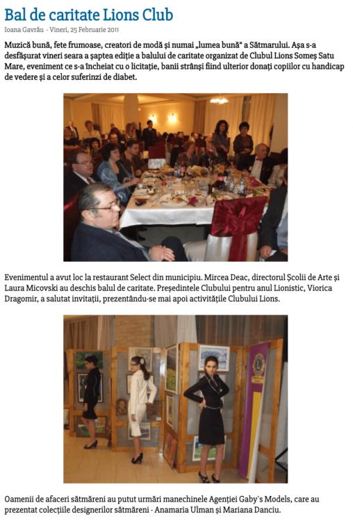 Bal de caritate Lions Club (satumareonline.ro)