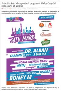 Primaria Satu Mare prezinta programul Zilelor Orasului Satu Mare, 26-28 mai! (actualitateasm.ro)