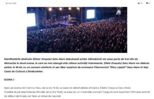 Manifestarile dedicate Zilelor Orasului Satu Mare debuteaza astazi. (gazetanord-vest.ro)