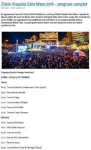 Zilele Orasului Satu Mare 2018 – program complet (satumareonline.ro)