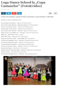 Loga Dance School la Cupa Castanelor. (satmareanul.net)