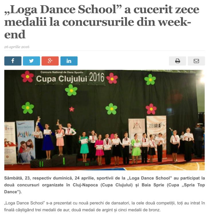 Loga Dance School a cucerit zece medalii la concursurile din week-end. (satmareanul.net)