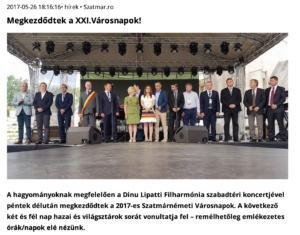 Megkezdodtek a XXI.Varosnapok! (szatmar.ro)